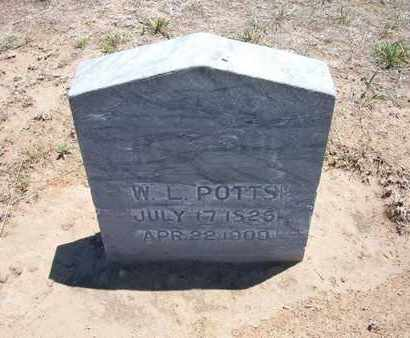 POTTS, W L - Stevens County, Kansas | W L POTTS - Kansas Gravestone Photos