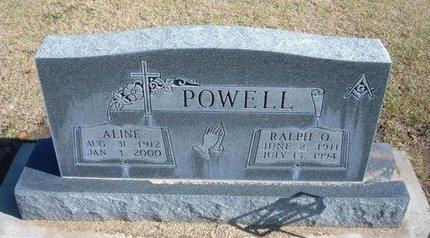 POWELL, ALINE - Stevens County, Kansas | ALINE POWELL - Kansas Gravestone Photos