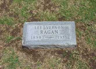 RAGAN, LEE VERNON - Stevens County, Kansas | LEE VERNON RAGAN - Kansas Gravestone Photos