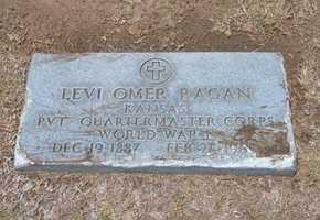 RAGAN, LEVI OMER  (VETERAN WWI) - Stevens County, Kansas | LEVI OMER  (VETERAN WWI) RAGAN - Kansas Gravestone Photos