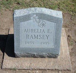 RAMSEY, AURELIA E - Stevens County, Kansas   AURELIA E RAMSEY - Kansas Gravestone Photos