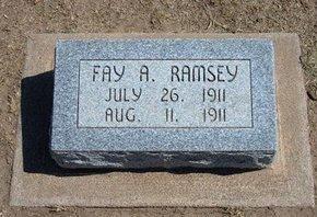 RAMSEY, FAY A - Stevens County, Kansas   FAY A RAMSEY - Kansas Gravestone Photos