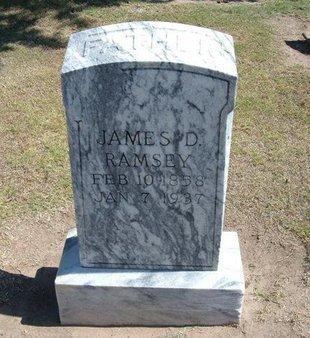 RAMSEY, JAMES D - Stevens County, Kansas | JAMES D RAMSEY - Kansas Gravestone Photos