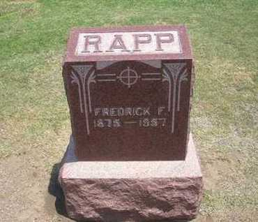 RAPP, FREDRICK - Stevens County, Kansas | FREDRICK RAPP - Kansas Gravestone Photos
