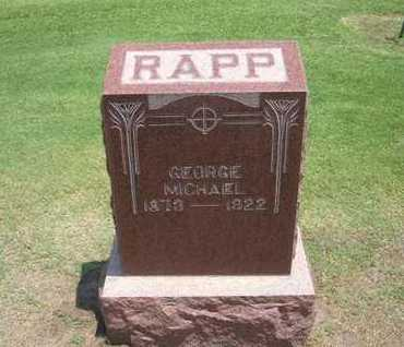 RAPP, GEORGE MICHAEL - Stevens County, Kansas | GEORGE MICHAEL RAPP - Kansas Gravestone Photos