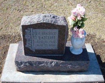 RATCLIFF, E BEATRICE - Stevens County, Kansas | E BEATRICE RATCLIFF - Kansas Gravestone Photos