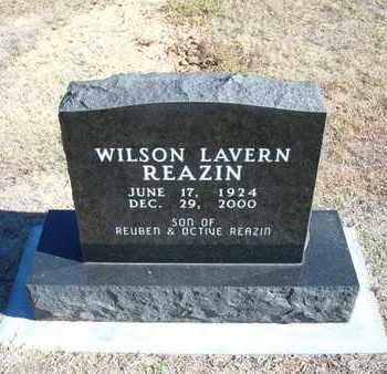 REAZIN, WILSON LAVERN - Stevens County, Kansas | WILSON LAVERN REAZIN - Kansas Gravestone Photos