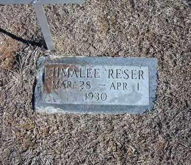 RESER, JIMALEE - Stevens County, Kansas   JIMALEE RESER - Kansas Gravestone Photos