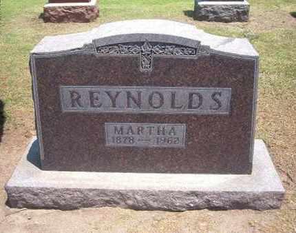 REYNOLDS, MARTHA - Stevens County, Kansas | MARTHA REYNOLDS - Kansas Gravestone Photos