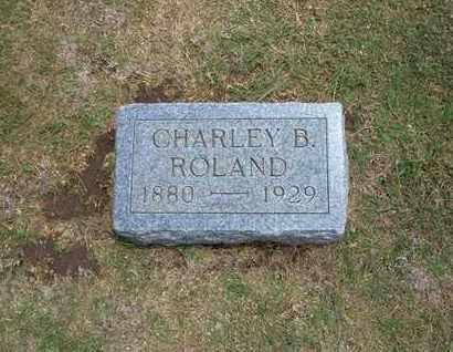 ROLAND, CHARLEY B - Stevens County, Kansas | CHARLEY B ROLAND - Kansas Gravestone Photos