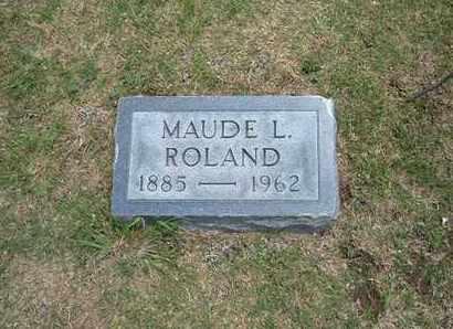 LEDGERWOOD ROLAND, MAUDE L - Stevens County, Kansas | MAUDE L LEDGERWOOD ROLAND - Kansas Gravestone Photos