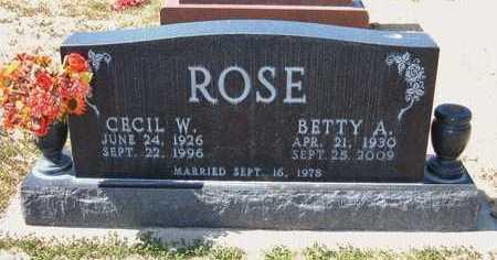 JONES ROSE, BETTY ANN - Stevens County, Kansas | BETTY ANN JONES ROSE - Kansas Gravestone Photos