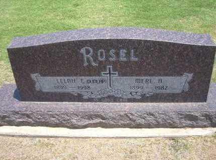 ROSEL, LELAH E - Stevens County, Kansas | LELAH E ROSEL - Kansas Gravestone Photos