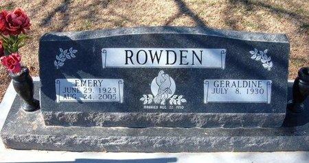 ROWDEN, JOHN EMERY - Stevens County, Kansas   JOHN EMERY ROWDEN - Kansas Gravestone Photos