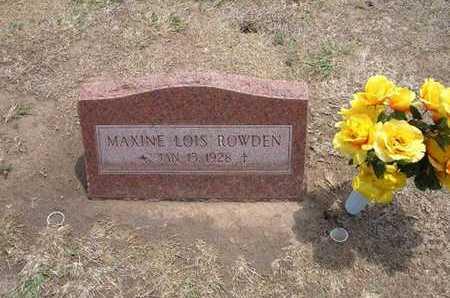 ROWDEN, MAXINE LOIS - Stevens County, Kansas   MAXINE LOIS ROWDEN - Kansas Gravestone Photos