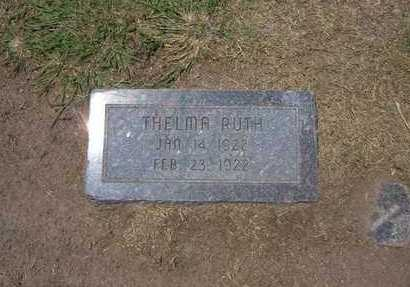 RUTH, THELMA - Stevens County, Kansas | THELMA RUTH - Kansas Gravestone Photos