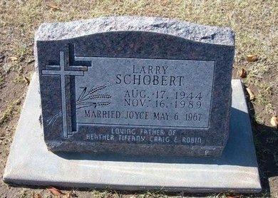 SCHOBERT, LARRY D - Stevens County, Kansas | LARRY D SCHOBERT - Kansas Gravestone Photos
