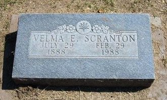 WEBBER SCRANTON, VELMA ELIZABETH - Stevens County, Kansas   VELMA ELIZABETH WEBBER SCRANTON - Kansas Gravestone Photos