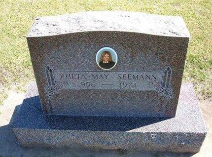 SEEMANN, RHETA MAY - Stevens County, Kansas   RHETA MAY SEEMANN - Kansas Gravestone Photos