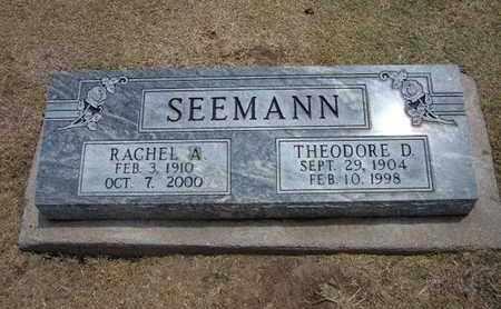 SEEMANN, THEODORE D - Stevens County, Kansas | THEODORE D SEEMANN - Kansas Gravestone Photos