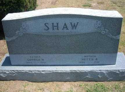 SHAW, GEORGE W - Stevens County, Kansas | GEORGE W SHAW - Kansas Gravestone Photos