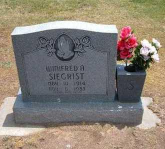 SIEGRIST, WINIFRED A - Stevens County, Kansas   WINIFRED A SIEGRIST - Kansas Gravestone Photos
