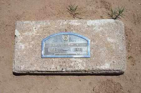 SIMMONS, JAMES - Stevens County, Kansas | JAMES SIMMONS - Kansas Gravestone Photos