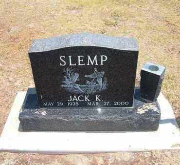 SLEMP, JACK K - Stevens County, Kansas | JACK K SLEMP - Kansas Gravestone Photos