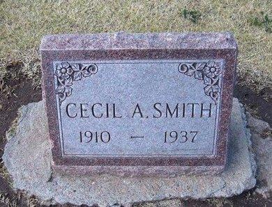 SMITH, CECIL A - Stevens County, Kansas | CECIL A SMITH - Kansas Gravestone Photos