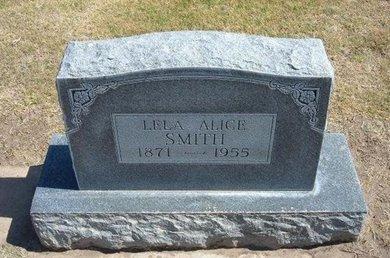 SMITH, LELA ALICE - Stevens County, Kansas | LELA ALICE SMITH - Kansas Gravestone Photos