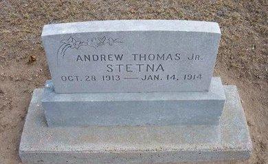 STETNA , ANDREW THOMAS, JR - Stevens County, Kansas   ANDREW THOMAS, JR STETNA  - Kansas Gravestone Photos
