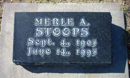 STOOPS, MERLE A - Stevens County, Kansas | MERLE A STOOPS - Kansas Gravestone Photos