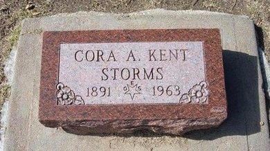 STORMS, CORA A - Stevens County, Kansas   CORA A STORMS - Kansas Gravestone Photos