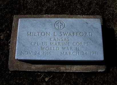 SWAFFORD, MILTON L (VETERAN WWII) - Stevens County, Kansas   MILTON L (VETERAN WWII) SWAFFORD - Kansas Gravestone Photos
