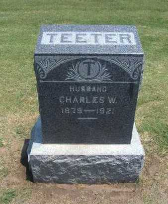 TEETER, CHARLES W - Stevens County, Kansas | CHARLES W TEETER - Kansas Gravestone Photos