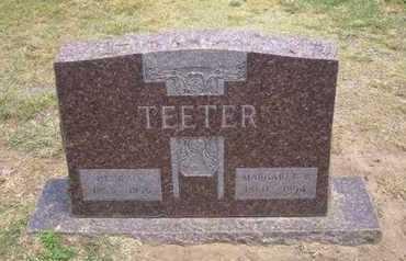 TEETER, MARGARET B - Stevens County, Kansas   MARGARET B TEETER - Kansas Gravestone Photos
