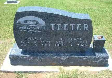 TEETER, L BERYL - Stevens County, Kansas | L BERYL TEETER - Kansas Gravestone Photos