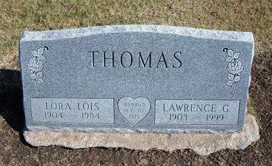 THOMAS, LORA LOIS - Stevens County, Kansas   LORA LOIS THOMAS - Kansas Gravestone Photos