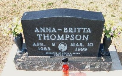 THOMPSON, ANNA BRITTA - Stevens County, Kansas   ANNA BRITTA THOMPSON - Kansas Gravestone Photos