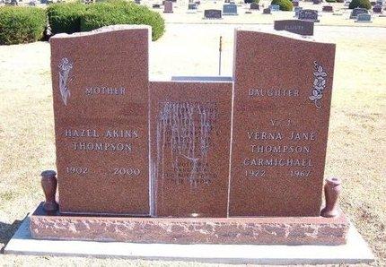 THOMPSON, HAZEL AKINS - Stevens County, Kansas | HAZEL AKINS THOMPSON - Kansas Gravestone Photos