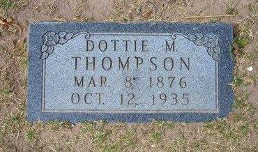 "THOMPSON, MINERVA BELINDA ""DOTTIE"" - Stevens County, Kansas | MINERVA BELINDA ""DOTTIE"" THOMPSON - Kansas Gravestone Photos"