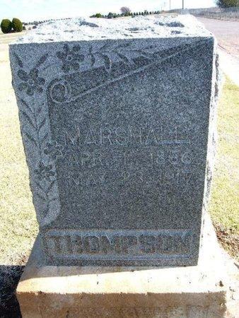 THOMPSON, MARSHALL - Stevens County, Kansas | MARSHALL THOMPSON - Kansas Gravestone Photos