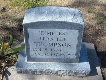 """THOMPSON, TERA LEE """"DIMPLES"""" - Stevens County, Kansas   TERA LEE """"DIMPLES"""" THOMPSON - Kansas Gravestone Photos"""