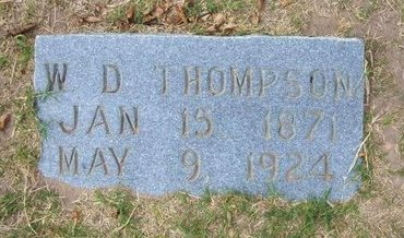 THOMPSON, WILLIAM DANIEL - Stevens County, Kansas   WILLIAM DANIEL THOMPSON - Kansas Gravestone Photos