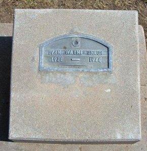 UNRUH, IVAN WAYNE - Stevens County, Kansas   IVAN WAYNE UNRUH - Kansas Gravestone Photos