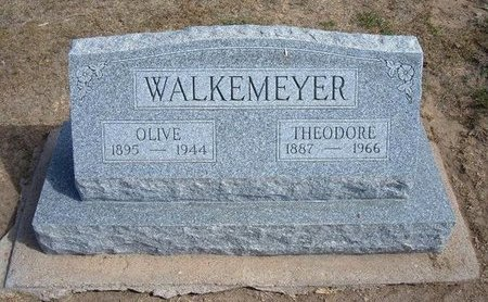 "BAUER WALKEMEYER, OLIVE DORINDA ""IDA"" - Stevens County, Kansas | OLIVE DORINDA ""IDA"" BAUER WALKEMEYER - Kansas Gravestone Photos"