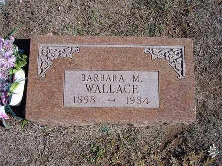 WALLACE, BARBARA M - Stevens County, Kansas | BARBARA M WALLACE - Kansas Gravestone Photos