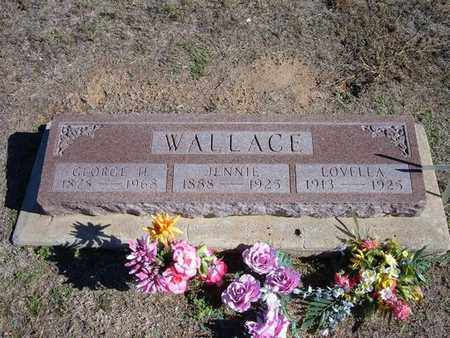 WALLACE, JENNIE - Stevens County, Kansas | JENNIE WALLACE - Kansas Gravestone Photos