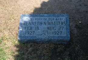 WALTERS, KENNETH N - Stevens County, Kansas   KENNETH N WALTERS - Kansas Gravestone Photos