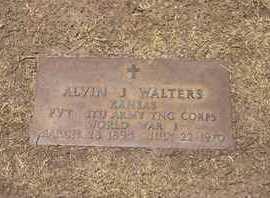 WALTERS, ALVIN J  (VETERAN WWII) - Stevens County, Kansas   ALVIN J  (VETERAN WWII) WALTERS - Kansas Gravestone Photos